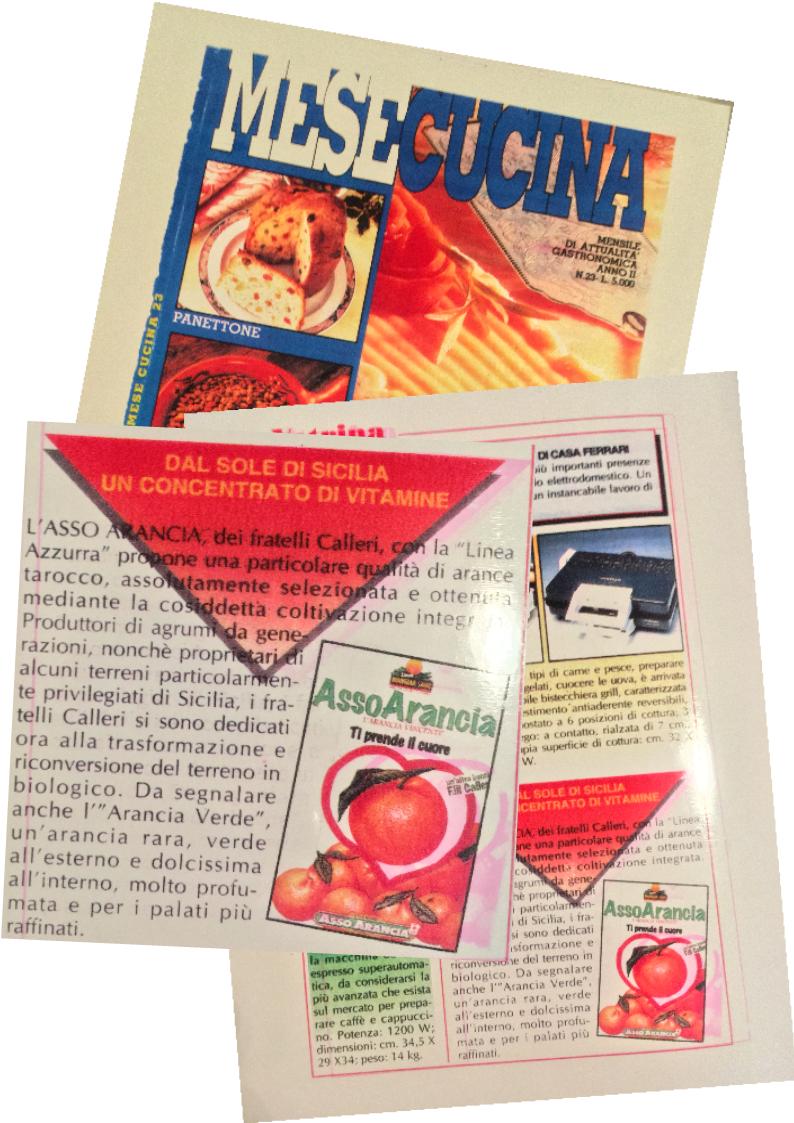 Arance Siciliane  Agrumi di Sicilia  Asso   Pubblicità riviste anni '90